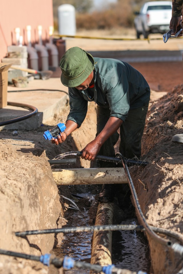 N.C. Guard work on building projects, relationships in Botswana