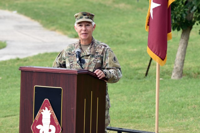 COL Shauna L. Snyder, the outgoing commander Medical Professional Training Brigade.