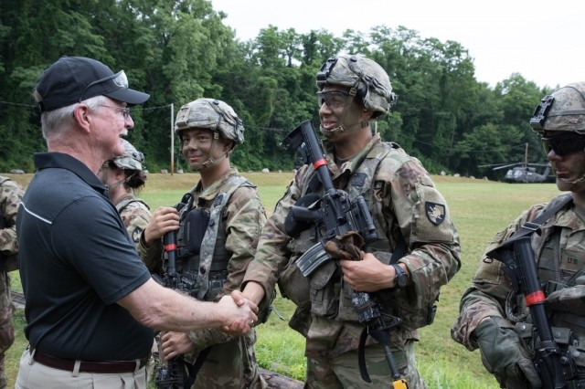 The U.S. Military Academy hosted six members of the House of Representatives for a tour July 7-9 to talk about the future needs of the academy as it works to develop future leaders for the Army. (U.S. Army photo by Tarnish Pride)