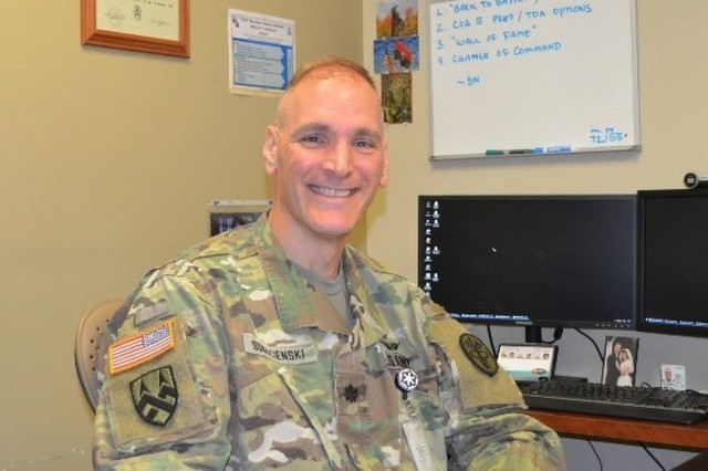 U.S. Army Lt. Col. Theodore Sobocienski, Commander Warrior Transition Battalion Fort Drum, New York May 20, 2019. (Photo by MaryTherese Griffin, U.S. Army Warrior Care and Transition)