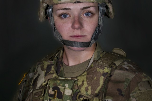 2nd Lt. Stella Hundley became the first female platoon leader in the 1st Battalion, 149th Infantry in February of 2018. Hundley serves as a medical services officer while also working full-time managing personnel and logistics for the 75th Troop Command.