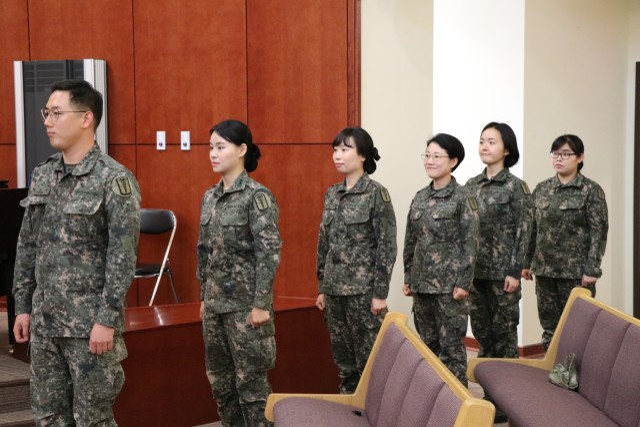 Republic of Korea Army officers graduate military healthcare program