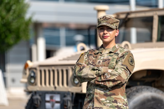 Staff Sgt. Haley Wilson was named Tobyhanna Army Depot's Warfighter of the Quarter for the third quarter of 2019 during a ceremony at the Scranton/Wilkes-Barre RailRiders baseball team military appreciation event.