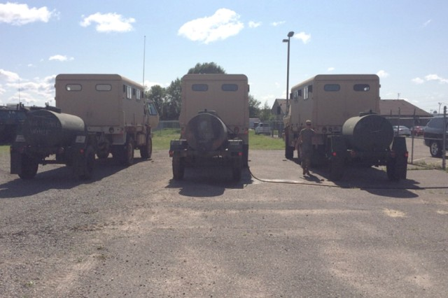 Approximately two dozen WisconsinNationalGuard Soldiers are on state active duty to provide water to communities in Langlade County so residents can flush their septic systems and for other uses.