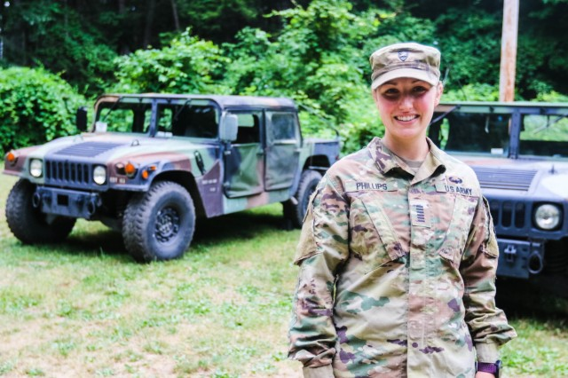 Class of 2020 Cadet Eden-Elizabeth Phillips is serving as the regimental commander for Cadet Field Training, the six-week long summer training program for the Class of 2022.