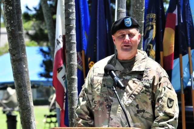 402nd AFSB farewells Brookie during a change of command ceremony