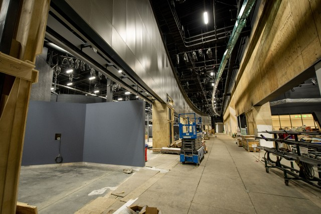 The concourse of the National Museum of the United States Army is under construction, July 25, 2019. The concourse offers a window-like view into each gallery, beginning with the Revolutionary War to the ongoing conflicts in Afghanistan and Iraq. Construction of the museum is ongoing, and doors are scheduled to open to the public in 2020.