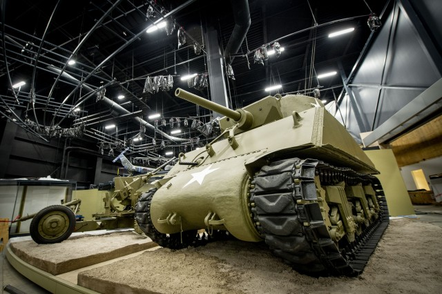 The M4 Sherman tank pictured was essential during the Battle of the Bulge, when it was used by American forces in 1944, during the Siege of Bastogne by the German military. Construction of the museum is ongoing, and doors are scheduled to open to the public in 2020.