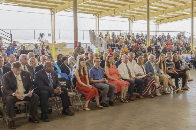 A large crowd of depot employees, friends, family and community leaders attended the July 25 Change of Command ceremony at Anniston Army Depot.