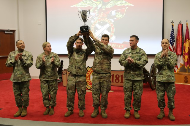 Staff Sgt. Matthew Hamilton and Sgt. Tyler Kinney, 763rd Ordnance Company/21st Ord. Co. (WMD), 79th Ordnance Battalion (EOD), 71st Ordnance Group (EOD), Fort Leonard Wood, Missouri, won the the U.S. Army Explosive Ordnance Disposal (EOD) Team of the Year competition at Fort A.P. Hill, Virginia, July 22-26.