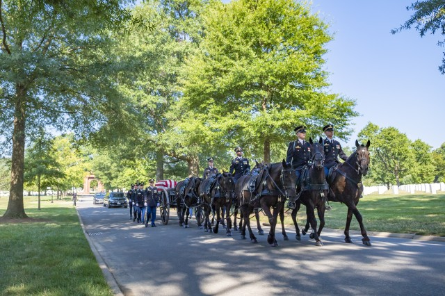 The 3d U.S. Infantry Regiment (The Old Guard) Caisson Platoon helps conduct Military Funeral Honors with Funeral Escort for U.S. Army Private 1st Class John Taylor at Arlington National Cemetery, Arlington, Virginia, July 30, 2019.From the Defense POW/MIA Accounting Agency:In August 1950, Taylor was a member of Company C, 2nd Battalion, 24th Infantry Regiment, 25th Infantry Division in South Korea. On August 11, 1950, his regiment encountered a Korean People's Army unit near the village of Haman. Taylor's company was ordered to move southwest, where they were ambushed and forced to disperse. In the days following, the battalions of 24th Infantry Regiment consolidated their positions, reorganized and began accounting for their Soldiers. After several days of checking adjoining units, aid stations and field hospitals, Taylor was reported as killed in action on August 12, 1950, but his remains were not recovered.On January 6, 1951, an Army Graves Registration Service search and recovery team recovered a set of unidentified remains near the village of Haman. The remains, which could not be identified, were interred in United States Military Cemetery Masan in South Korea, as Unknown X-213 Masan.In February 1954, the Central Identification Unit in Kokura, Japan, examined Unknown X-213 Masan. Unable to make an identification, the remains were declared unidentifiable in April 1955 and buried as an Unknown in the National Memorial Cemetery of the Pacific, known as the Punchbowl, in Honolulu.In 2016, research into unresolved losses and unknowns remains from the Korean War led researchers to conclude that Unknown X-213 could likely be identified. The unknown had been recovered in the area where Taylor went missing. DPAA disinterred Unknown X-213 in June 2017 and sent the remains to the laboratory for analysis. To identify Taylor's remains, scientists from DPAA used as dental and anthropological analysis, as well as circumstantial evidence. Taylor was officially accounted for o