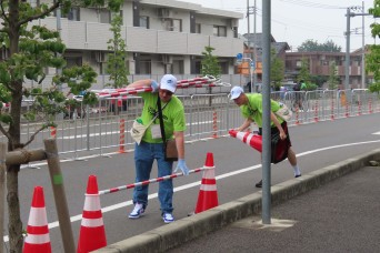 Camp Zama volunteers help during 2020 Tokyo Olympics cycling pre-trial event
