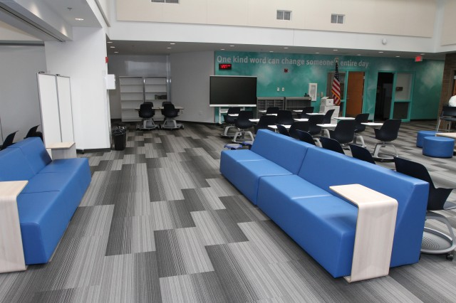 The English hub area in the new FKMHS annex.