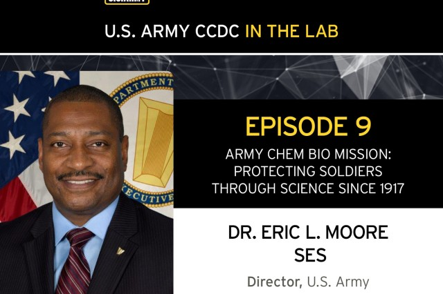"""Dr. Eric Moore, director of the CCDC Chemical & Biological Center on the """"CCDC in the Lab"""" podcast."""