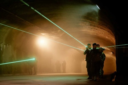 Soldiers demonstrate how to integrate maneuver forces with enablers for countering weapons of mass destruction operations in an Underground Facility in South Korea.