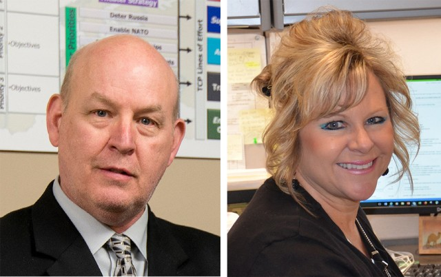 Security assistance enterprise honors Huther, Mays