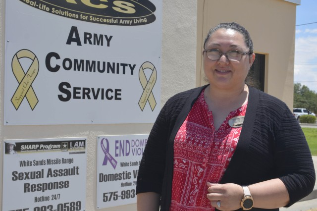 Army Community Service at White Sands Missile Range recently welcomed Cynthia Valenzuela as the new Family Advocacy Program Manager.