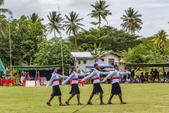 Culmination of Pacific Pathways training displayed at cadet graduation at Napuka Secondary School