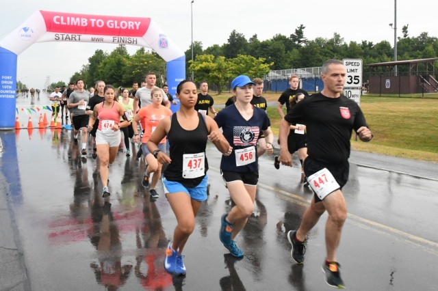 Soldiers across the 10th Mountain Division (LI) and Fort Drum ran the final 10K qualifier race Aug. 7 in hopes of getting on this year's Army Ten-Miler Team roster. (Photo by Mike Strasser, Fort Drum Garrison Public Affairs)