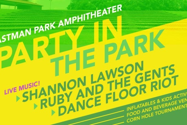 The Directorate of Family and Morale, Welfare and Recreation will host Party in the Park at Eastman Park Amphitheater, located off of Wilson Road, Aug. 23 from 5 to 11 p.m.
