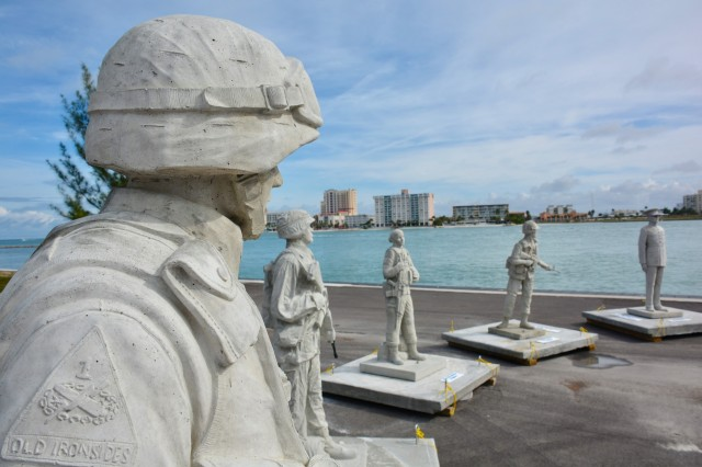 Circle of Heroes is the nation's only memorial of its kind and will eventually have 24 life-size statues depicting troops from all services. The first 12 statues can now be seen about 10 miles off the coast of Clearwater, Fla.