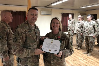 Illinois Army National Guard Soldier Receives Military Outstanding Volunteer Service Medal