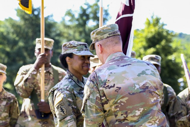Landstuhl Regional Medical Center's Troop Command held a change of command ceremony where Lt. Col. Stephanie Sido relinquished command to Lt. Col. Christina Buchner, at LRMC, July 30.