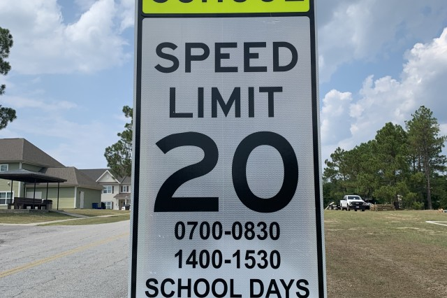 With children returning to the new school year Wednesday, Fort Jackson personnel will see additional traffic and patrol officers near schools to ensure children arrive safely. Flashing and reflective signs warn driver to slow down within school zones as some children may be difficult to see crossing streets in the early morning hours.