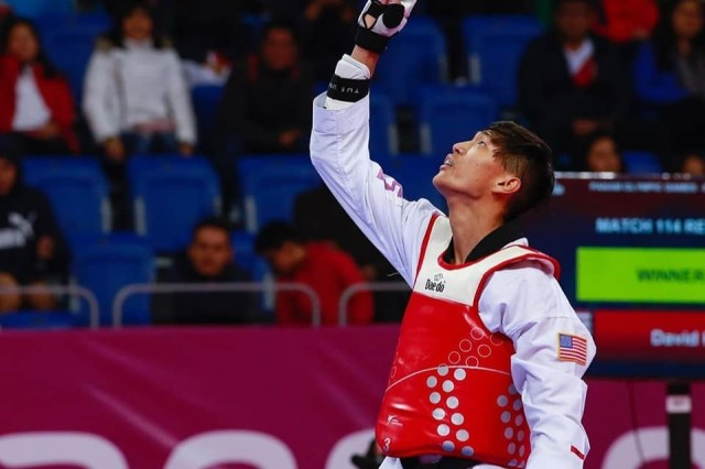 At the 2019 Pan American Games in Lima, Peru, WCAP Soldier-athlete Spc. David Kim earned a bronze medal in the men's 58kg division in taekwondo. Courtesy photo
