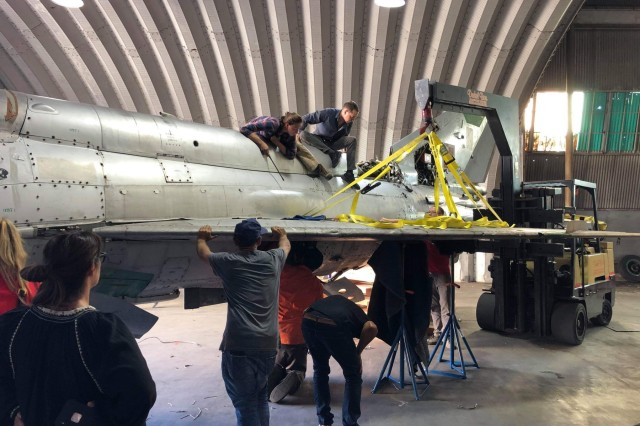 Staff Sgt. Clara Mailloux, 446th Maintenance Squadron, led a team for a project called the MIG-21 Project in Los Angeles as they reconstructed the aircraft's major aesthetic assemblies such as fuselage, tail and wings recently.