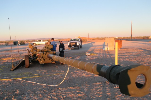 Scientists and engineers at the CCDC Armaments Center play an important role in field-based experiments and demonstrations of new technologies like the Extended Range M777A2 howitzer.