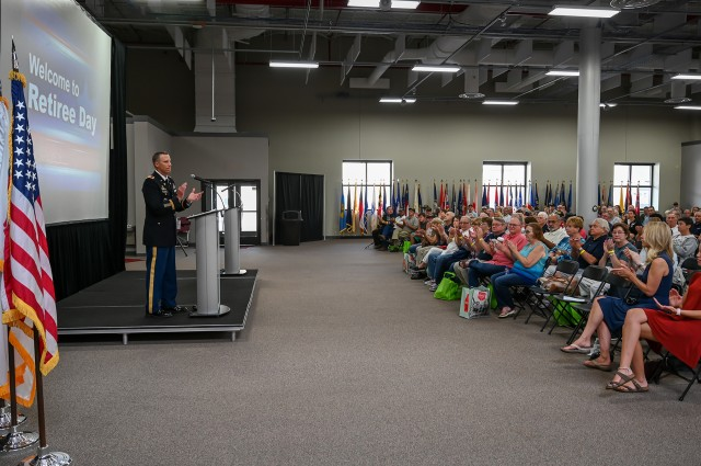 Military benefits topic of discussion at depot event