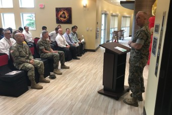 Verell attends Camp Hansen Inns of the Corps Ribbon Cutting