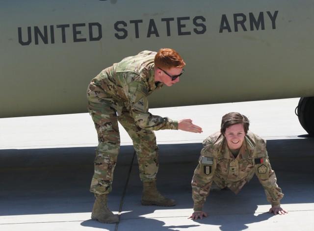 Deployed siblings: Kelsey and James Harty