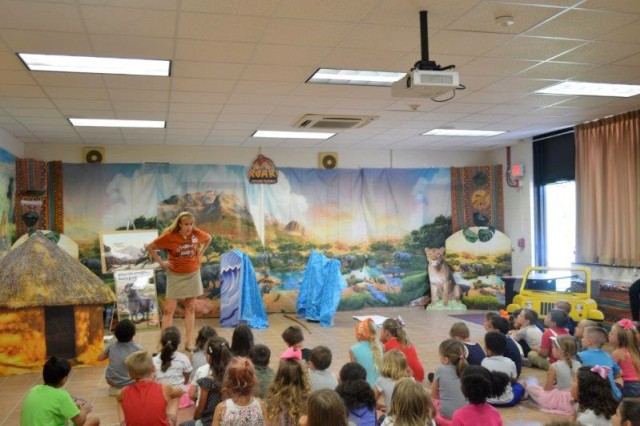 "The Fort Knox Religious Support Office's 2019 Vacation Bible School event -- their largest outreach to children each year -- occurred July 22-26. About 201 children registered for the event with an average of 145 attending each day. The year's theme, ""ROAR! Life is Wild, God is Good,"" focused on the story of Moses and the Israelites' travels to the Promised Land, found in the book of Exodus."