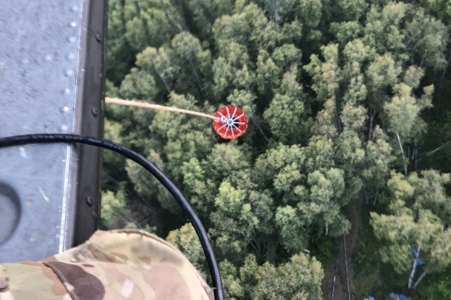 The Alaska Army National Guard's 1st Battalion, 207th Aviation Regiment, supports the McKinley Fire suppression mission Aug. 19, 2019, with two UH-60 Black Hawk helicopters. The helicopters dropped more than 100,000 gallons of water during a total of 9.5 flight hours in support of this mission.