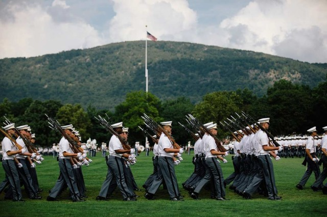 The U.S. Corps of Cadets assembled, Aug. 17, 2019, for the Acceptance Day Parade to officially welcome the Class of 2023 into the corps at West Point, N.Y.