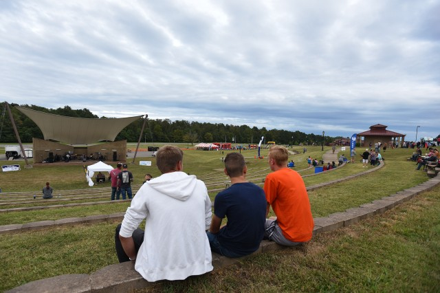 Fort Knox and local residents relax in the cooler Kentucky weather, listening to live music while others participate in games, contests and fun.