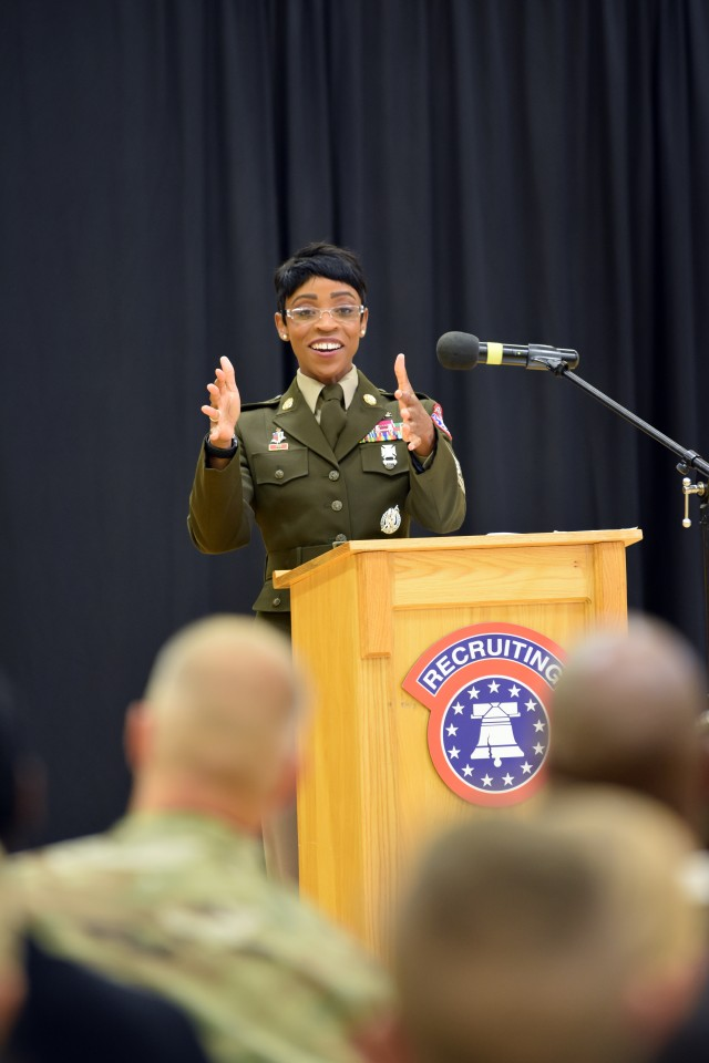 Recruiting Command's senior enlisted leader inspires women's equality observers