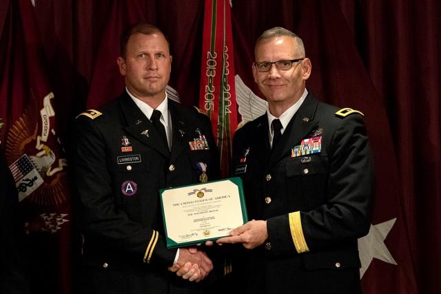Livingston receiving certificate