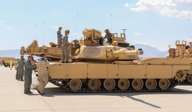 Combat team receives first tanks following armor conversion