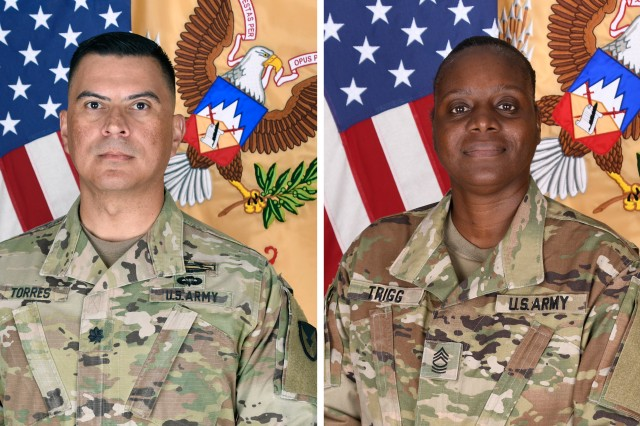 Members of the 925th Contracting Battalion at Fort Drum, New York, welcomed Lt. Col. Rickey Torres and Master Sgt. Tamara Trigg their new leadership team during ceremonies this summer.