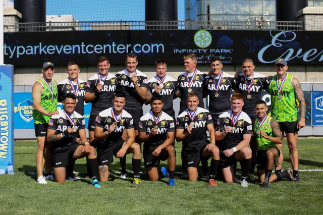 The men's All-Army Rugby Sevens team won first place at the 2019 U.S. Armed Forces tournament for the seventh time in a row. They beat the Air Force 33-5 in the championship game.