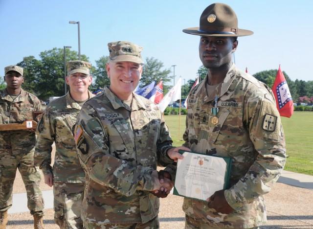 Culinary specialist CASCOM's top drill sergeant