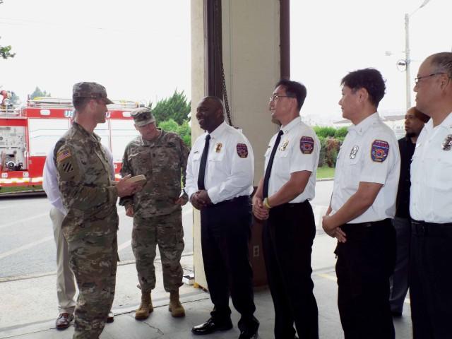 USAG Daegu Fire and Emergency receive DOD fire prevention program award for Army