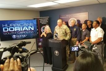 South Carolina National Guard prepares to respond to Dorian's impact
