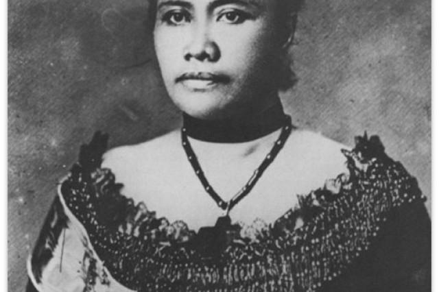 A portrait of Queen Lili'uokalani.