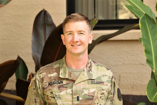 1st Lt. Cameron Ashdown, social worker, family advocacy program, is the lead planner for the upcoming Suicide Prevention Pledge which takes place on Sept. 6, 2019 at the Desmond T. Doss Health Clinic on Schofield Barracks. The pledge is one of two key events at the Health Clinic which support Suicide Prevention and Awareness in September.
