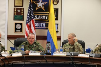 U.S. Army South hosts Colombian army during bilateral staff talks