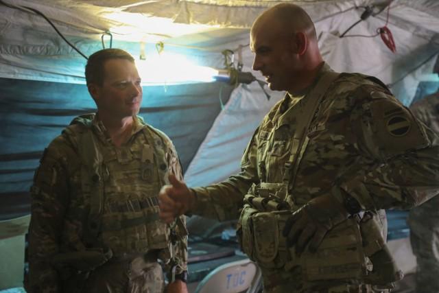 CSM Curt Cornelison meets with CSM Christopher Mullinax